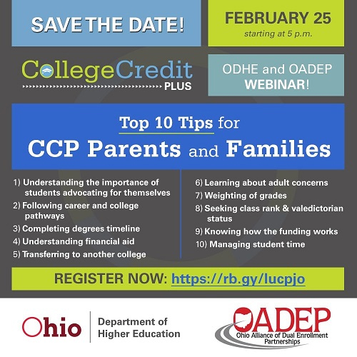 CCP Webinar for Parents - UPDATE
