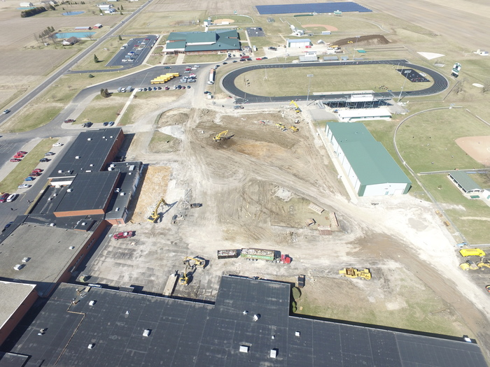 Aerial Views of Building Site