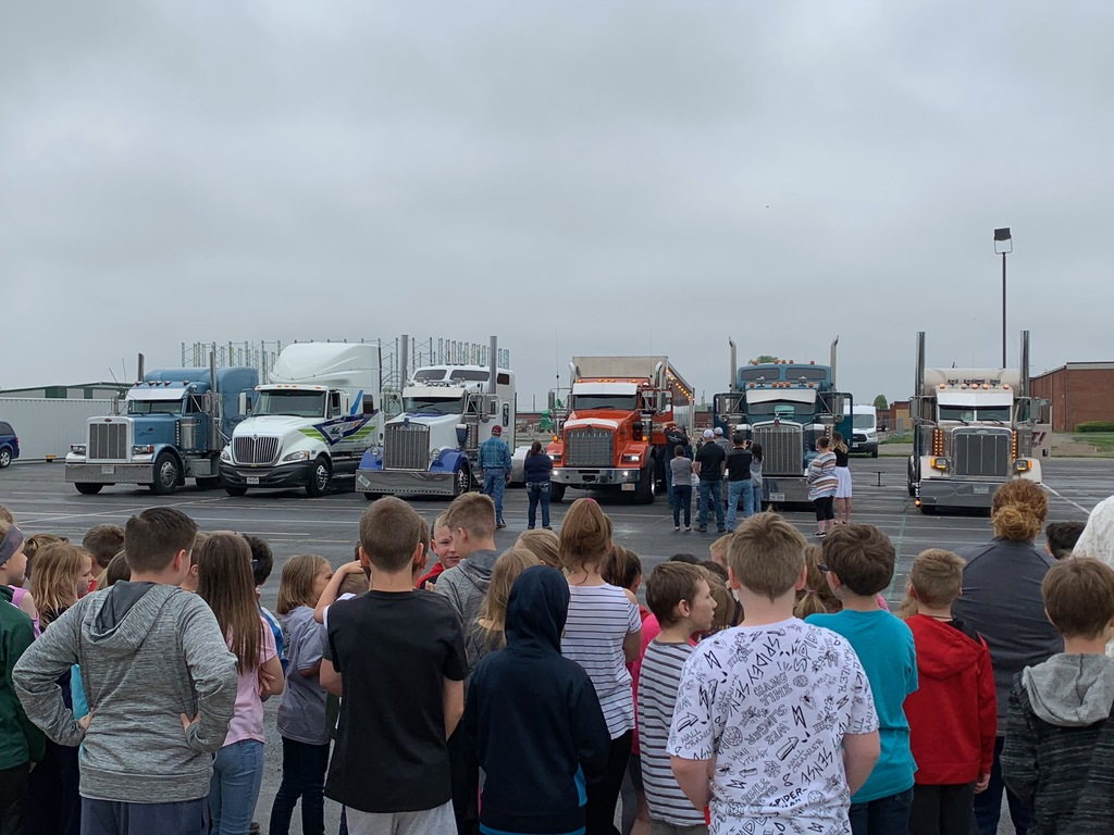 Joey's Ride trucks visiting TES